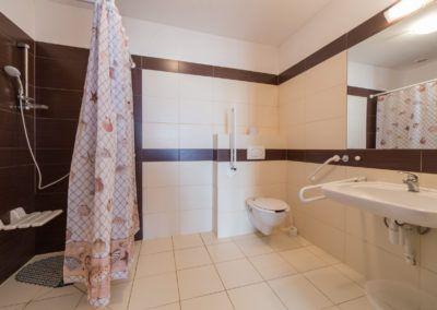 Łazienka w budynku tarasowym
