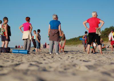 Gimnastyka na plaży