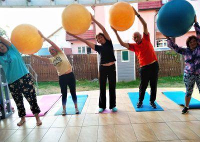 Gimnastyka na tarasie