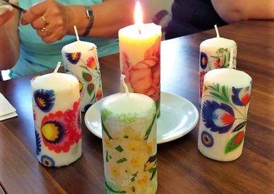 Ozdabianie świec